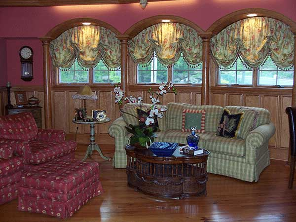 Brownsburg custom fabric shades